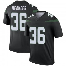 Legend Youth Montrel Meander New York Jets Nike Color Rush Jersey - Stealth Black