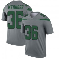 Legend Youth Montrel Meander New York Jets Nike Inverted Jersey - Gray