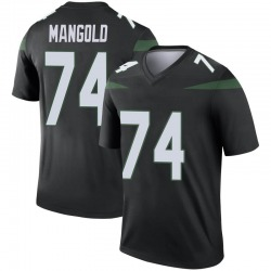 Legend Youth Nick Mangold New York Jets Nike Color Rush Jersey - Stealth Black