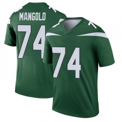 Legend Youth Nick Mangold New York Jets Nike Player Jersey - Gotham Green
