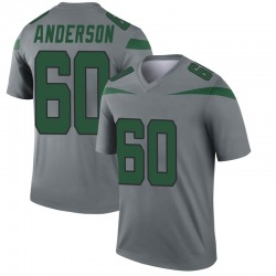 Legend Youth Ryan Anderson New York Jets Nike Inverted Jersey - Gray