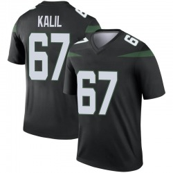 Legend Youth Ryan Kalil New York Jets Nike Color Rush Jersey - Stealth Black