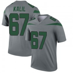 Legend Youth Ryan Kalil New York Jets Nike Inverted Jersey - Gray