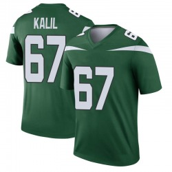 Legend Youth Ryan Kalil New York Jets Nike Player Jersey - Gotham Green