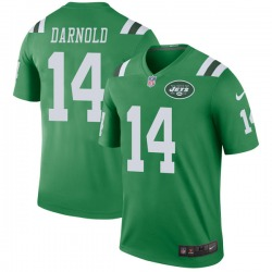 Legend Youth Sam Darnold New York Jets Nike Color Rush Jersey - Green