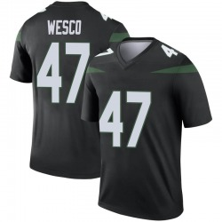 Legend Youth Trevon Wesco New York Jets Nike Color Rush Jersey - Stealth Black