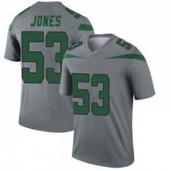 Legend Youth Tyler Jones New York Jets Nike Inverted Jersey - Gray