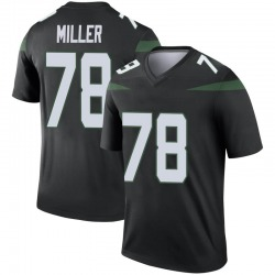 Legend Youth Wyatt Miller New York Jets Nike Color Rush Jersey - Stealth Black