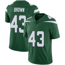 Limited Men's Alex Brown New York Jets Nike Vapor Jersey - Gotham Green