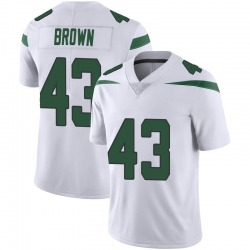 Limited Men's Alex Brown New York Jets Nike Vapor Jersey - Spotlight White