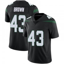 Limited Men's Alex Brown New York Jets Nike Vapor Jersey - Stealth Black