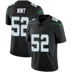 Limited Men's Anthony Wint New York Jets Nike Vapor Jersey - Stealth Black
