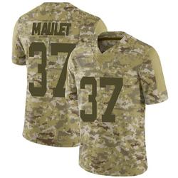 Limited Men's Arthur Maulet New York Jets Nike 2018 Salute to Service Jersey - Camo