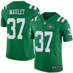 Limited Men's Arthur Maulet New York Jets Nike Color Rush Jersey - Green