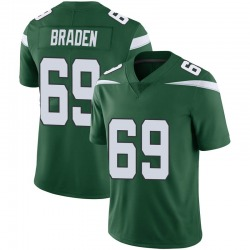Limited Men's Ben Braden New York Jets Nike Vapor Jersey - Gotham Green
