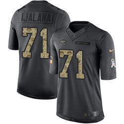 Limited Men's Ben Ijalana New York Jets Nike 2016 Salute to Service Jersey - Black