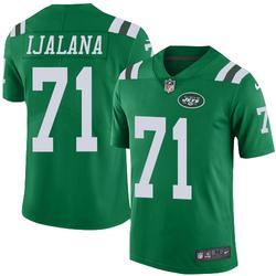Limited Men's Ben Ijalana New York Jets Nike Color Rush Jersey - Green