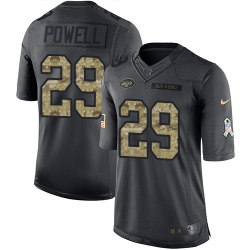 Limited Men's Bilal Powell New York Jets Nike 2016 Salute to Service Jersey - Black