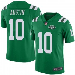 Limited Men's Blessuan Austin New York Jets Nike Color Rush Jersey - Green