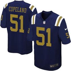 Limited Men's Brandon Copeland New York Jets Nike Alternate Vapor Untouchable Jersey - Navy Blue