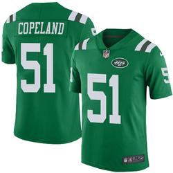 Limited Men's Brandon Copeland New York Jets Nike Color Rush Jersey - Green