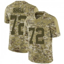 Limited Men's Brandon Shell New York Jets Nike 2018 Salute to Service Jersey - Camo