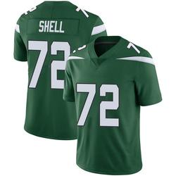 Limited Men's Brandon Shell New York Jets Nike Vapor Jersey - Gotham Green