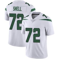 Limited Men's Brandon Shell New York Jets Nike Vapor Jersey - Spotlight White
