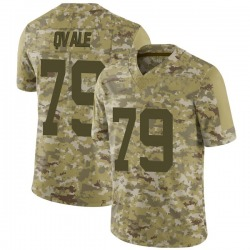 Limited Men's Brent Qvale New York Jets Nike 2018 Salute to Service Jersey - Camo