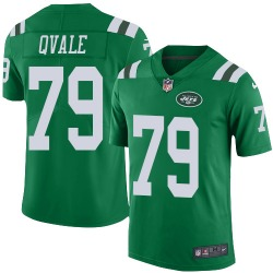Limited Men's Brent Qvale New York Jets Nike Color Rush Jersey - Green