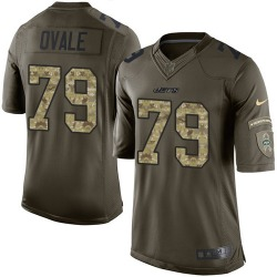 Limited Men's Brent Qvale New York Jets Nike Salute to Service Jersey - Green