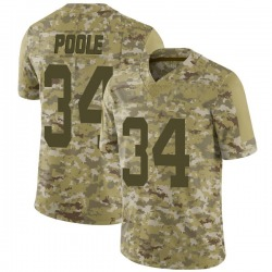 Limited Men's Brian Poole New York Jets Nike 2018 Salute to Service Jersey - Camo