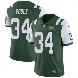 Limited Men's Brian Poole New York Jets Nike Team Color Vapor Untouchable Jersey - Green