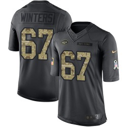 Limited Men's Brian Winters New York Jets Nike 2016 Salute to Service Jersey - Black