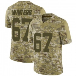 Limited Men's Brian Winters New York Jets Nike 2018 Salute to Service Jersey - Camo