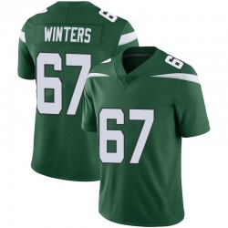 Limited Men's Brian Winters New York Jets Nike Vapor Jersey - Gotham Green