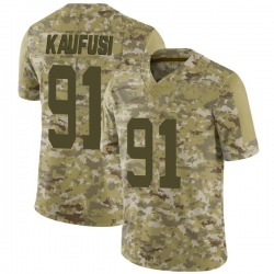 Limited Men's Bronson Kaufusi New York Jets Nike 2018 Salute to Service Jersey - Camo