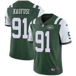 Limited Men's Bronson Kaufusi New York Jets Nike Team Color Vapor Untouchable Jersey - Green