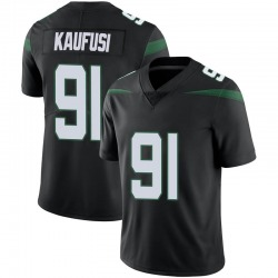 Limited Men's Bronson Kaufusi New York Jets Nike Vapor Jersey - Stealth Black