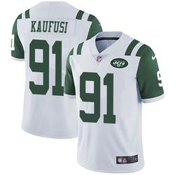 Limited Men's Bronson Kaufusi New York Jets Nike Vapor Untouchable Jersey - White