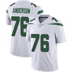 Limited Men's Calvin Anderson New York Jets Nike Vapor Jersey - Spotlight White