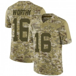 Limited Men's Chandler Worthy New York Jets Nike 2018 Salute to Service Jersey - Camo