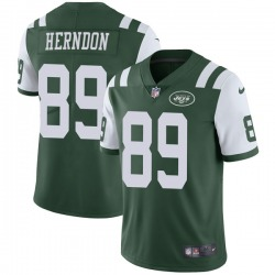 Limited Men's Chris Herndon New York Jets Nike Team Color Vapor Untouchable Jersey - Green