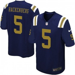 Limited Men's Christian Hackenberg New York Jets Nike Alternate Vapor Untouchable Jersey - Navy Blue