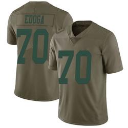 Limited Men's Chuma Edoga New York Jets Nike 2017 Salute to Service Jersey - Green