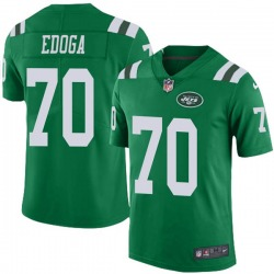 Limited Men's Chuma Edoga New York Jets Nike Color Rush Jersey - Green