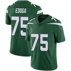 Limited Men's Chuma Edoga New York Jets Nike Vapor Jersey - Gotham Green