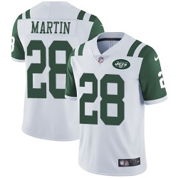 Limited Men's Curtis Martin New York Jets Nike Jersey - White