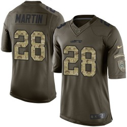Limited Men's Curtis Martin New York Jets Nike Salute to Service Jersey - Green
