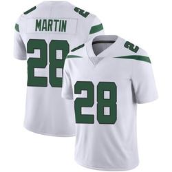 Limited Men's Curtis Martin New York Jets Nike Vapor Jersey - Spotlight White